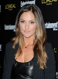 I kind of want to do highlights in he front like Minka Kelly.