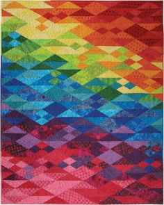 Another free quilt pattern inspired by the 2014 Winter Olympics. From Hoffman Fabrics - When Bali Met Sochi