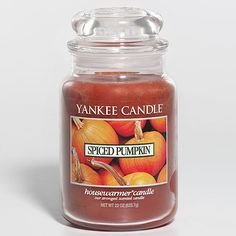 The smell of spiced pumpkin in my house during the fall just can't be beat.