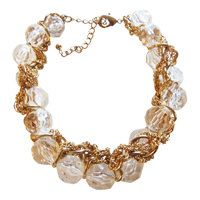 Crystal And Gold Chain Necklace