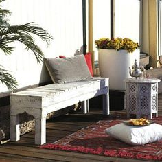 Diy Build a Moroccan style bench seat from recycled timber