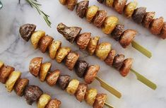 Tri-Color Potato Skewers and Dip Recipe | LIVESTRONG.COM
