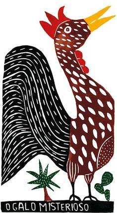 Block print by José Francisco Borges