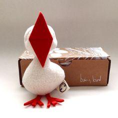 Baby Bird Rattle Organic cotton and wool felt beak by fidoodle, $22.00