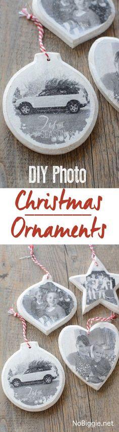 DIY Photo transfer ornament | NoBiggie.net