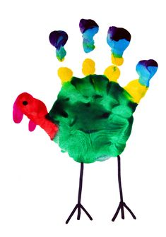 Cute turkey hand art craft for kids #thanksgiving #preschool #craftsforkids