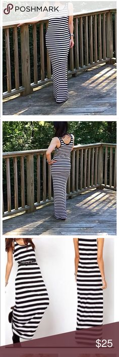 Gorgeous Tank Striped Private Label Maxi Dress! Spandex blend, looks gorgeous no matter what the occasion! Pre-ordering. Will ship in 4-6 days. Private Label Dresses Maxi