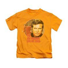 Six Million Dollar Man Classic TV Show Logo RUN FAST BOYS /& GIRLS T-Shirt S-XL