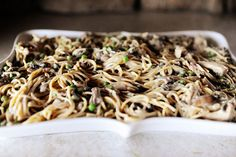 Never put black olives in my tetrazzini before but I just may try this. Never seen pioneer woman wrong yet!