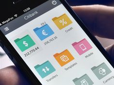 Mobile Banking App Flat Style