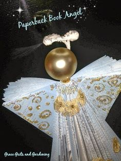 How to make a paperback book angel