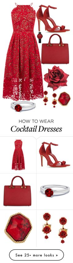"""Red"" by tallfashionesta on Polyvore featuring Warehouse, Schutz, MICHAEL Michael Kors, Dolce&Gabbana, Diane Von Furstenberg and halterdresses"