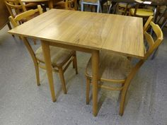 Kitchen Table With Two Chairs --- Re Covered In Showroom --- Good Condition H-76cm W-91cm D-60cm Was £45 Now £36 (PC040)