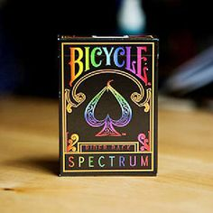 V021 Unique Rare 1Pcs Bicycle Spectrum Deck Playing Cards Rainbow Poker By USPC
