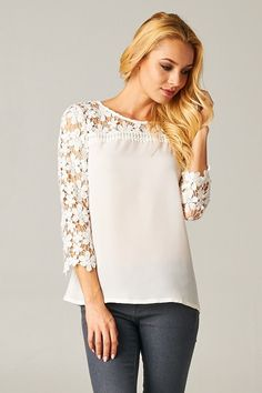 Catch Bliss Boutique - Jada Woven Top in Cream, $32.00 (http://www.catchbliss.com/jada-woven-top-in-cream/)