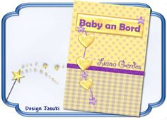 Mutterpass Baby an Bord lila gelb von Jasuki auf DaWanda.com
