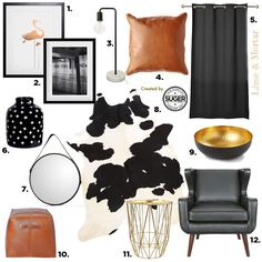 Guest Mood Board: Lime & Mortar: Colour Pop: Tan, Black & Gold by Suger Coat It