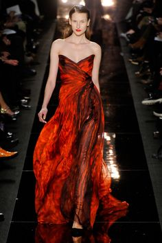 Monique Lhuillier Fall 2012: Fire, Ash, and Soot