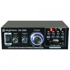 Hi-Fi zesilovač 2x 40W FM / USB / SD