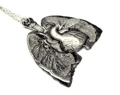 Anatomical Lungs & Heart Necklace Anatomy by TheSpangledMaker