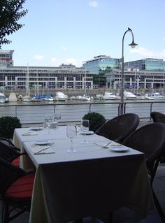 Across, the Puerto Madero Yacht Club. Yacht Club, Conference Room, Table, Home Decor, Buenos Aires, Restaurants, Homemade Home Decor, Meeting Rooms, Mesas