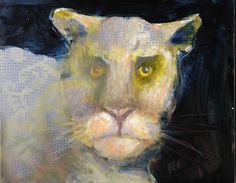 Mel McCuddin, Mountain Cat 2005, oil on canvas board
