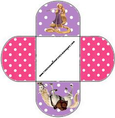 Tangled (Rapunzel) Free Printable Favor Boxes.
