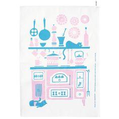 Hella tea towel by Polkka Jam.
