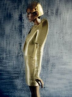 devon windsor in gareth pugh, photographed by sølve sundsbø for...