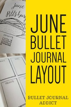 Bullet Journal Setup and Layout For June - Bullet Journal Spreads For Moving - Bullet Journal Monthly Layout And Cover For Pittsburgh #bulletjournal #bujo #bujolove #bujocollections #bulletjournalcollections #collections #monthlysetup #bujomonthly #bujodaily #bujomonth #junecoverpage #coverpage #bujocoverpage