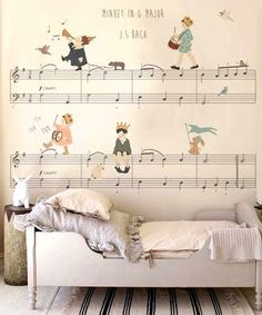 music wallpaper for kids room wall ideas