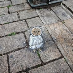 My Owl Barn: David Zinn Doodles Quirky Characters in the Streets With Chalk