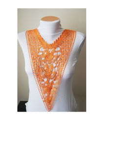 Expedited fast shipping Lace Necklace Orange #gift #shopping #etsy #ocean #accessory #men #sale  #handmade #shoes #bracelet #necklace #earrings #women #wedding #steampunk