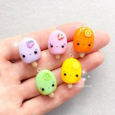 Kawaii Polymer Clay Pac Man Charm Cute Kawaii Charms The Effective Pictures We Offer You About Polymer Clay Crafts heart pendants A quality picture can tell you many things. You can find the most beau Fimo Kawaii, Kawaii Fruit, Polymer Clay Kawaii, Kawaii Crafts, Polymer Clay Charms, Polymer Clay Jewelry, Kawaii Diy, Diy Clay, Clay Crafts