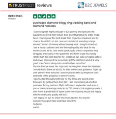 B2C Jewels Review on Trust Pilot by Martin emers
