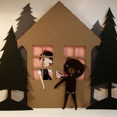 Black Forest Picnic paper doll set with 10 silver brads