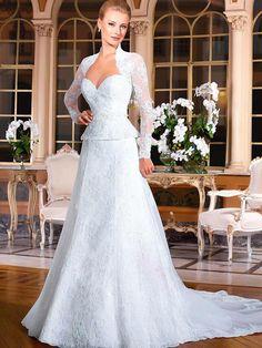 Vestidos De Novia 2016 White Lace Women Marraige Gown Vestidos New A Line Lace Puplem Formal Wedding Dresses With Bolero