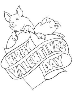 Valentines Day Coloring Page   Print Valentines Day Pictures To Color At  AllKidsNetwork.