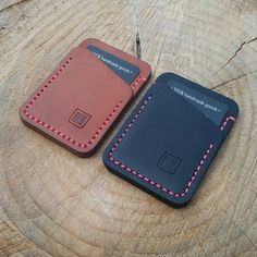 Another couple of Speedwallets. One staying local,  the other down under.  #handmade #handsewn #leatherwork #edc #everyday #everydaycarry #wallets #speedwallet