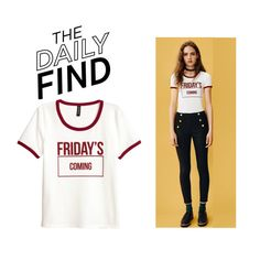 """The Daily Find: H&M T-Shirt"" by polyvore-editorial ❤ liked on Polyvore featuring H&M and DailyFind"