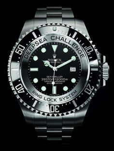 The Rolex Deepsea Challenge breaks all the records for watch with deepest depth rating: 12,000m.