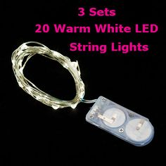 Check out the deal on 3 PACK - 20 Warm White LED Battery Mini Lights on Flexible Wire - Submersible at Battery Operated Candles