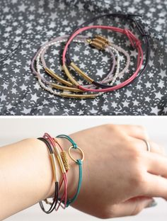 Craft Tutorial: Leather Cord & Beads Bracelets