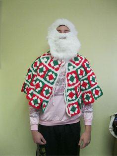 SUPER SANTA CAPE TACKY UGLY CHRISTMAS SWEATER VTG HYSTERICAL MENS WOMENS ONE SIZ