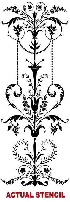 Parete stencil eleganti decorazioni di CuttingEdgeStencils su Etsy