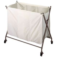 Easily sort your laundry while adding touch of style with this handy Richards Homewares rolling laundry sorter. This hamper features a sturdy metallic bronze metal frame and a durable canvas bag with a fold-over cover to keep dirty clothes out of sight. Laundry Sorter, Laundry Storage, Laundry Hamper, Laundry Cart, Laundry Tips, Laundry Rooms, Laundry Station, First Aid Kit, Room Organization