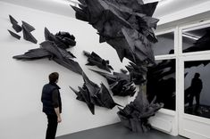 """Sonja Vordermaier, """"Formed absence of light"""", Basotect UF, paint, wood   approx. 6 x 3,5 x 4 m, (16 2/5 x 13 1/5 x 9 4/5 ft), Lena Brüning Gallery, Berlin, 2008"""