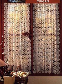 kit filati per fare ad uncinetto filet la tenda | curtain crochet ...