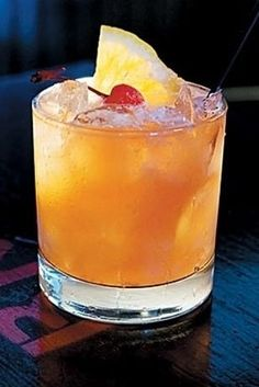 The Prison Bitch  -  1 oz amaretto, 2 oz cranberry juice, 2 oz orange juice, 1 oz triple sec, 1 oz vodka