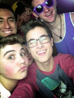 love kian in the glasses and love sam's duck face.